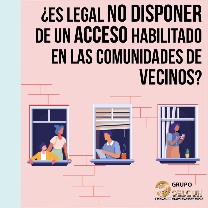 Obligacion comunidad vecinos pagar reforma para mejora accesibilidad por grupo oelcun elevadores